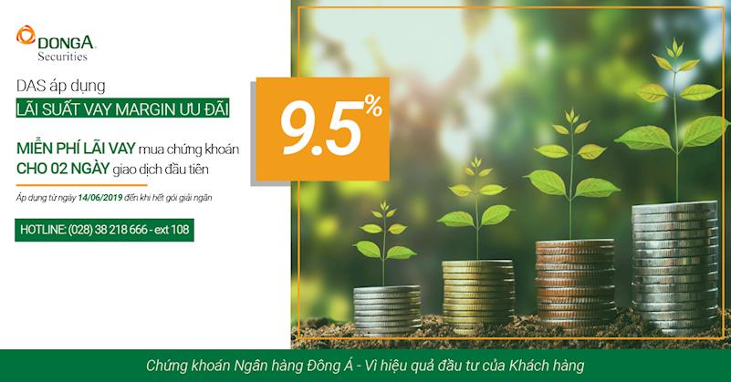 DAS áp dụng lãi suất vay Margin ưu đãi từ ngày 14/06/2019